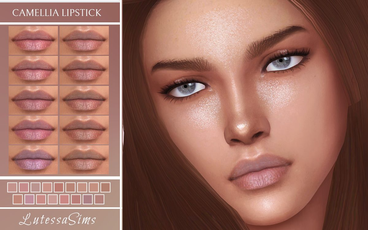 Sims 4 Lipstick for tan skins