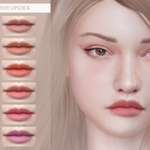 matte and glossy lipstick for sims 4