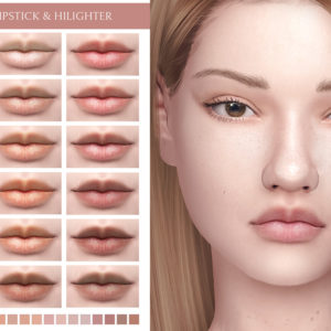 natural lipstick for sims 4