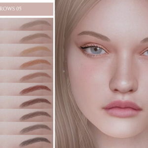 sims 4 eyebrows cc for female
