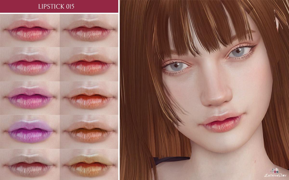 shiny lipstick for sims 4 female