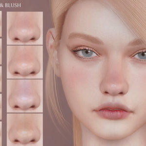 sims 4 lipstick and lovely cheeks and nose blush