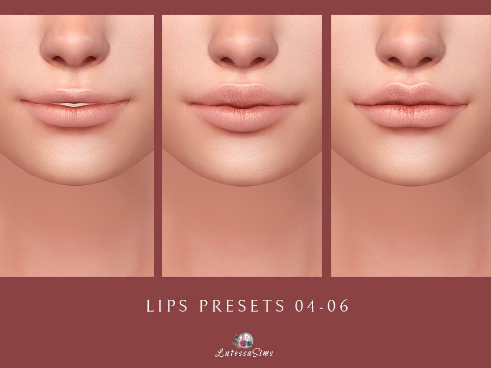 sims 4 lips presets for female